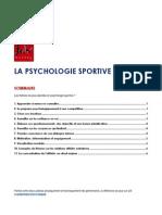 Psychologie Sportive