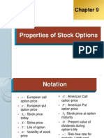Properties of Stock Options