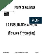 La Fissuration a Froid - Ou Par Hydrogene