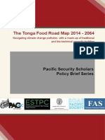 The Tonga Food Road Map 2014 - 2064 Navigating climate change potholes with a mash-up of traditional and bio-technical capacity building