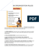 Classroom Organization Rules