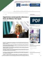 01-09-14_Termómetro en Linea_ Seguiremos construyendo reformas a favor de México_ Flor Ayala