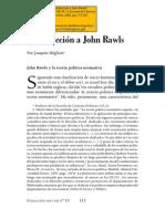 Joaquin Migliore Introducción a John Rawls[1]