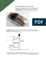 Como Hacer Un Sencillo Cargador Portatil via USB