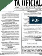 Gaceta Oficia 40481 - Decreto 1190