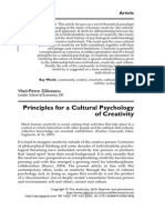 Glaveanu Principles Cultural Psychology of Creativity 2010