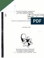 Decision Sciences Laboratory Biennial Progress Report, July 1962-June 1964