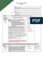 Planificación Clase a Clase Orientacion. 2014-1