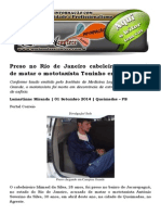 Preso No Rio de Janeiro Cabeleireiro Acusado de Matar o Mototaxista Toninho Em Queimadas