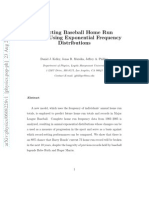 Predicting Baseball Home Run Records Using Exponential Frequency Distributions