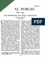 Parsons.professions.socialstructure