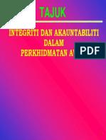 Integriti Dan Akauntabiliti Dalam Perkhidmatan Awam