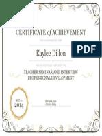 teacher seminar and interveiw