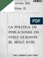 Las Politicas de Las Poblaciones Durante El s XVIII