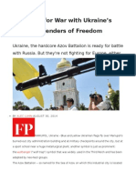 Preparing for War With Ukraine's Fascist Defenders of Freedom