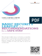 Basic Security leaflet and suggestions for your journeys