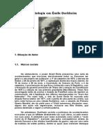 INT SOL DURKHEIM a Sociologia Em Émile Durkheim