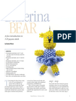 3D Ballerina Bear