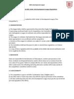u18 development league 2014 regulations