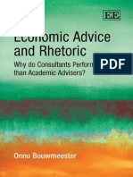 Economic Advice and Rhetoric - Onno Bouwmeester