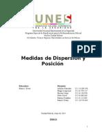 Trabajo de Medidas de Posición y Dispersión