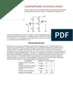Cálculo de Un Preamplificador en Emisor Común1