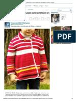 Confecciona Un Saco Cruzado Para Nena Tejido en Crochet - Taringa!