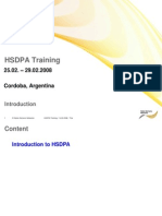 M1 HSDPA Training HSDPA Introduction