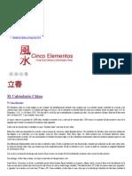 El Calendario Chino _ Cinco Elementos