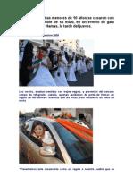 En Gaza 450 niñas menores de 10 años se casaron con hombres del doble de su edad