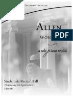 4/19/12 Solo Recital