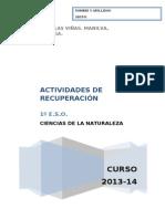 Actividades de Pendientes 1ESO CCNN 13-14 (1)
