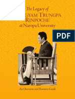 Legacy of Chogyan Trungpa Rinpoche at Naropa University