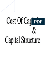 Cost of Capital and Capital Structure