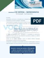 Banca de Defesa - Monografia Orientacao