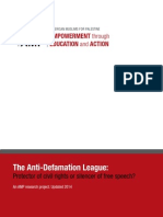 UPDATED 2014 - The Anti-Defamation League
