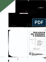 Balances de Materia y Energía - Rekalitis
