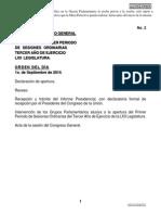 01-09-14 Orden del día - Congreso General