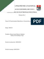 Informe de Electricidad Industrial 2 Palacios-Quinga
