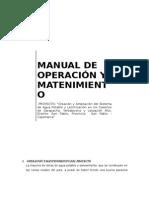 Manual de Operacion y Mant.