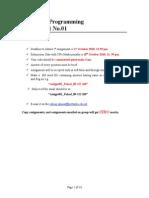 Assignment # 1 (Computer Programming)