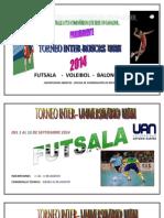 Inter-roscas de Fútsala, Voleibol y Baloncesto (1)