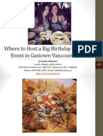 Where to Host a Big Birthday Party or Event in Vancouver British Columbia