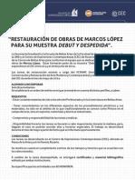 Convocatoria Marcos Lopez