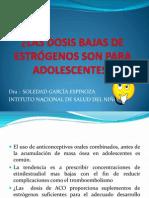 5. Las Dosis Bajas de Estrógenos Son Para Adolescentes
