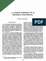 Toponimias Ecuador Acosta Solis