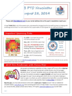 JFB PTO Newsletter 8-28-14