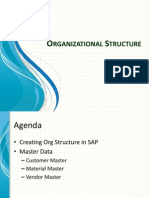 Organizational Structure & Master Data