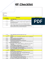 GMP Checklist