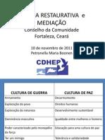 Justiça Restaurativa e Mediação - Palestra.ppt